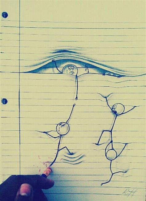 Amazing Drawings On Lined Paper - XciteFun