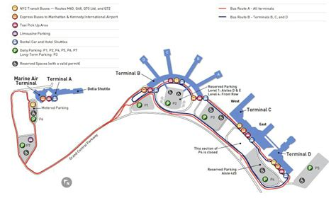 Map of NYC airport transportation & terminal