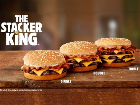Burger King Brings Back The Stacker King In Three Sizes