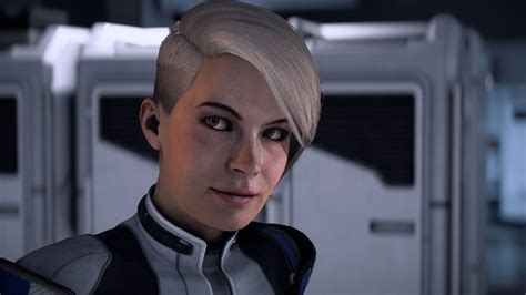 Mass Effect Andromeda - Cora (Dialogues et romance) - YouTube