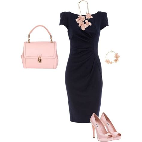 navy and pale pink in 2020 | Fashion, Style, Navy dress