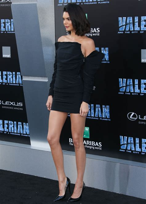 Kendall Jenner Puts Her Long Legs On Display In Super High