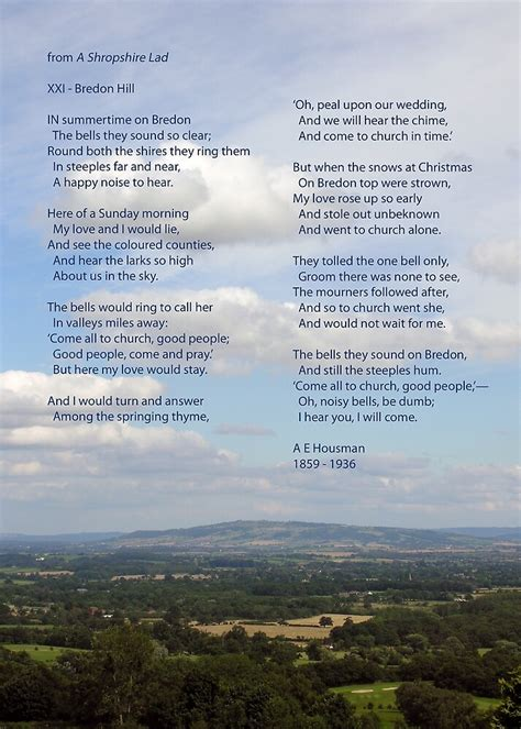 """""""Bredon Hill - the view and the poem"""