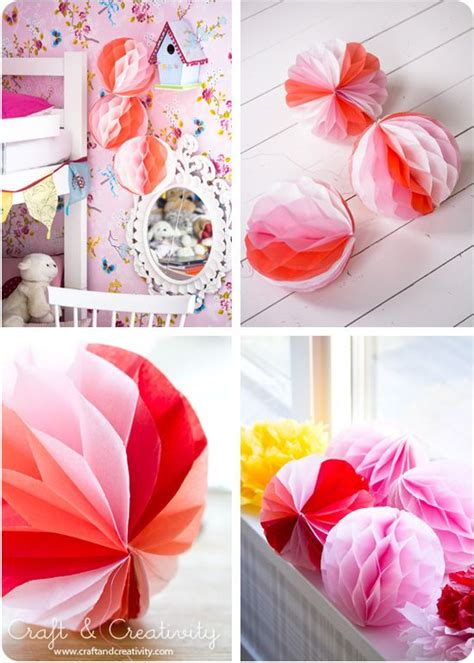DIY Honeycomb paper ball for baby shower, wedding