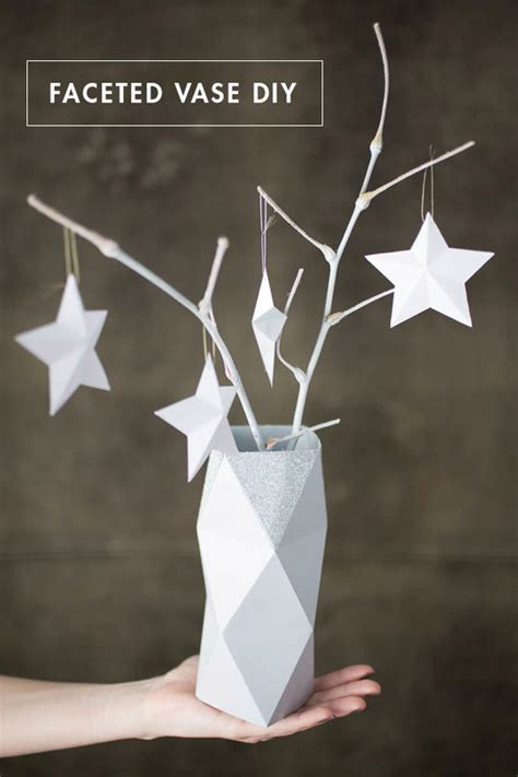 How To: Make a Faceted Paper Vase (Free Template) | Curbly