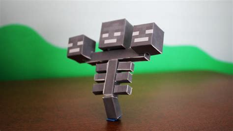 How to make the Minecraft Paper Wither - YouTube
