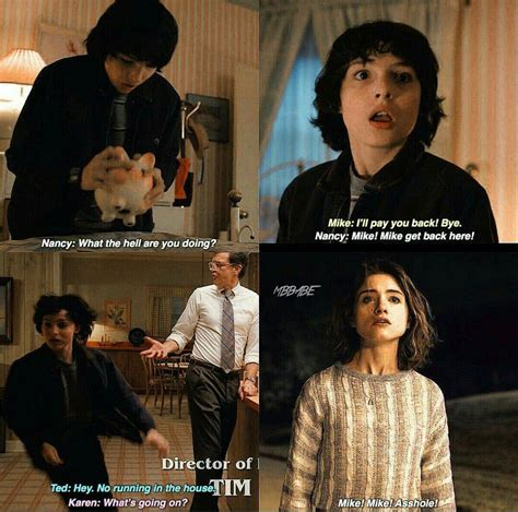 Mike And Nancy   Stranger things quote, Stranger things
