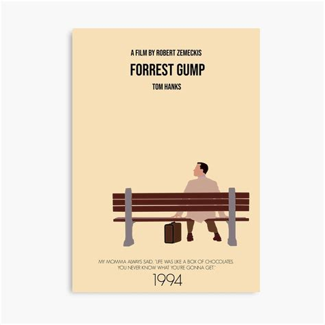 Forrest Gump Minimal Movie Poster Canvas Print By Augierice