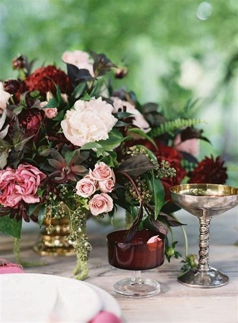 Trending-10 Burgundy and Blush Wedding Centerpieces for