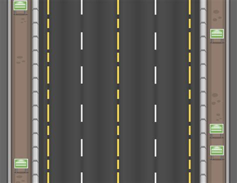 2D Top Down Highway Background | OpenGameArt