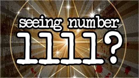 Numerology 1111: Hidden Meanings Of The Number 1111! - YouTube