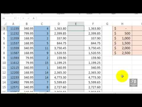 Using VLOOKUP and MATCH To Retrieve Data from A Table