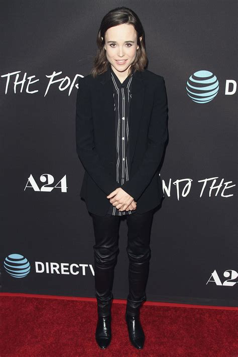 Ellen Page attends A24 Into The Forest Premiere - Leather