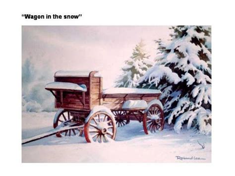 Painting Demonstration – Old Wagon in the Snow – Roland Lee