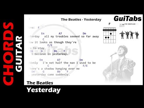 Yesterday by The Beatles - Intermediate Solo Guitar Guitar